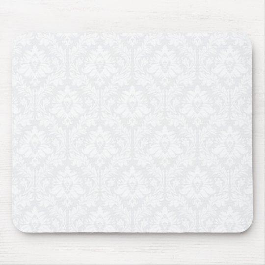 Light Grey Damask pattern Mouse Pad