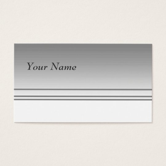 Light Grey. Elegant Design. Business Card