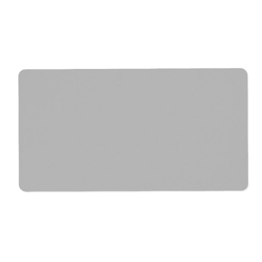 Light Grey Fashion Grey Colour Trend 2014 Blank Shipping Label