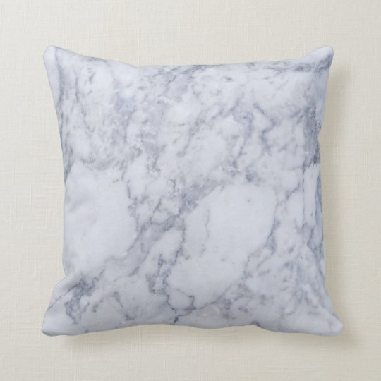 Light Grey Marble Stone Pattern Cushion
