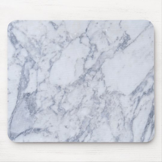 Light Grey Marble Stone Pattern Mouse Mat