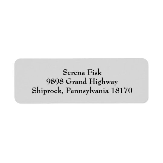 Light Grey Simple Plain Return Address Labels