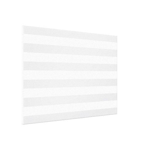 Light Grey Stripes Gallery Wrap Canvas