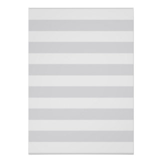 Light Grey Stripes Posters
