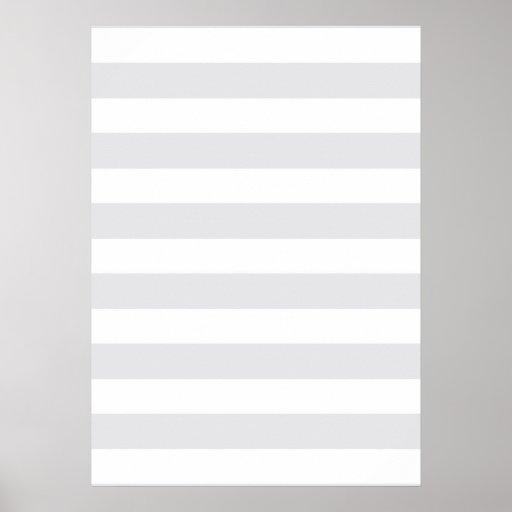 Light Grey Stripes Posters