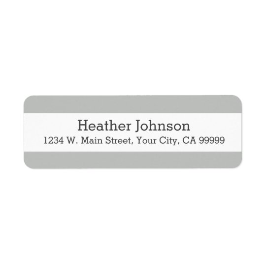 Light Grey Stripes Return Address Labels