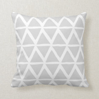 Light Grey Triangles Geometric Decorative Pillow