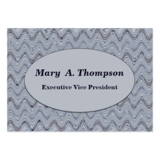 Light Grey wavy lines Large Business Cards (Pack Of 100)