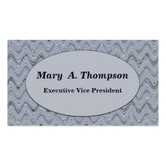 Light Grey wavy lines Double-Sided Standard Business Cards (Pack Of 100)