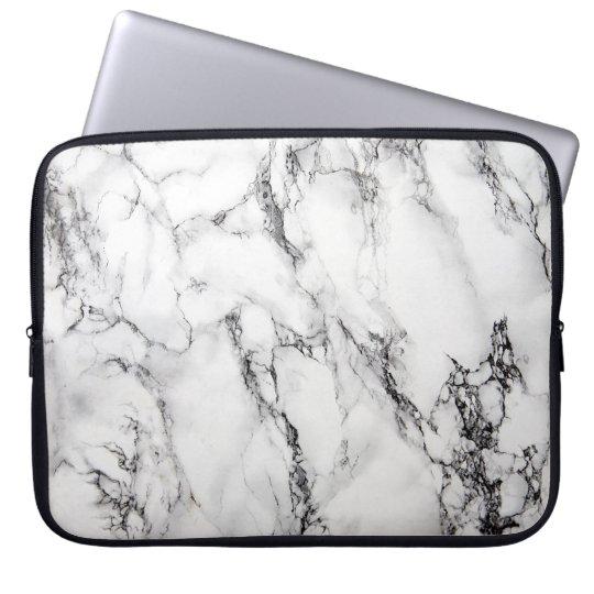 Light Grey White Black Marble Stone Laptop Computer