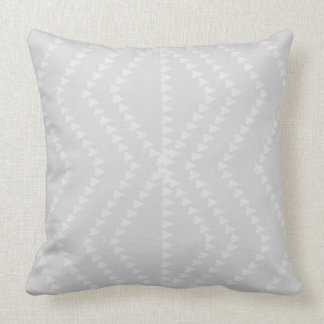 Light Grey White Geometric Arrows Pillow