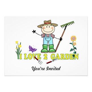 Light Guy Farmer Blonde I Love 2 Garden Custom Announcements