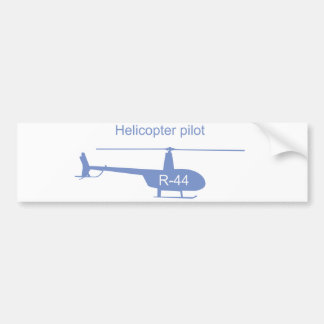 Light helicopter bumper sticker