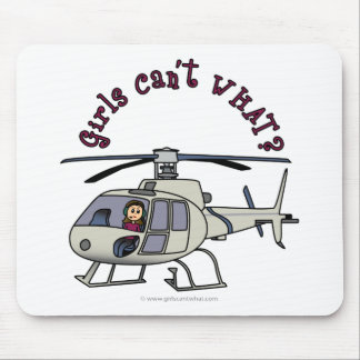 Light Helicopter Girl Mouse Mat