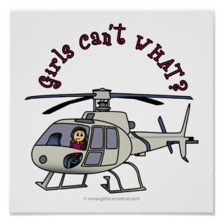 Light Helicopter Girl Posters