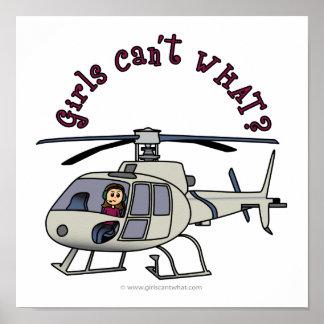 Light Helicopter Girl Poster