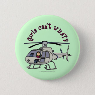 Light Helicopter Pilot Girl 6 Cm Round Badge