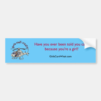 Light Helicopter Pilot Girl Bumper Sticker