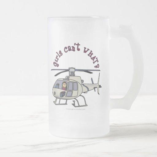 Light Helicopter Pilot Girl Coffee Mug
