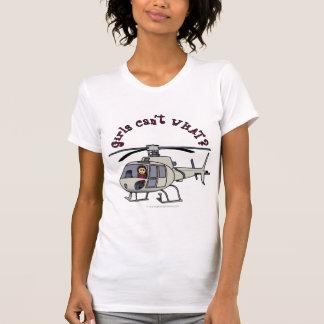 Light Helicopter Pilot Girl Shirt