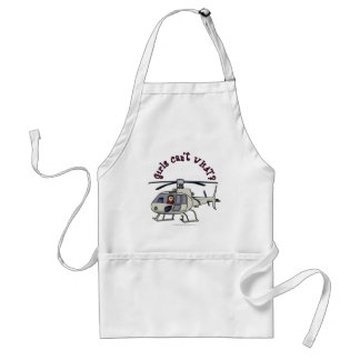 Light Helicopter Pilot Girl Standard Apron