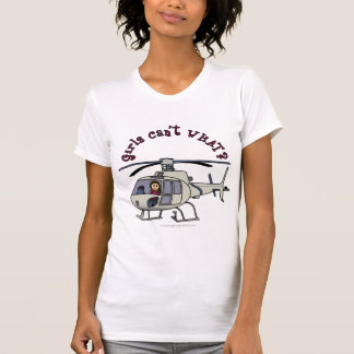 Light Helicopter Pilot Girl T-Shirt