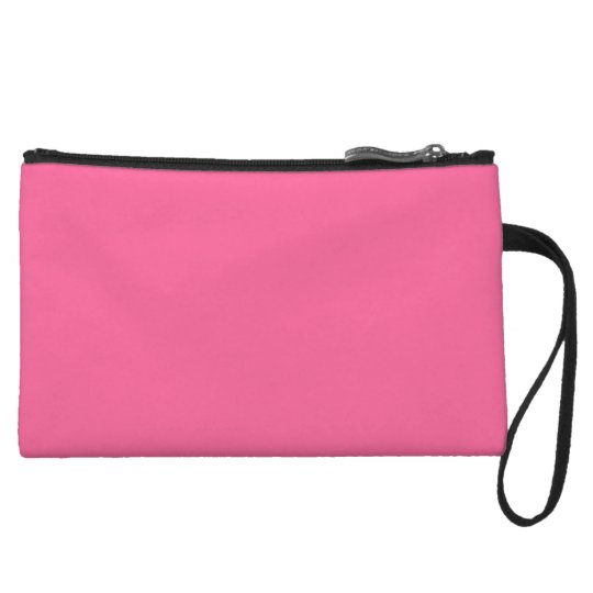 Light Hot Pink Colour Trend Template Blank Wristlet