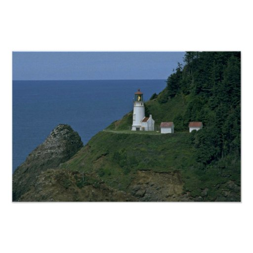 Light House At The Mountain Print