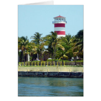 light house bahamas greeting card