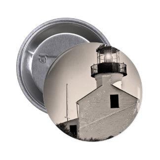 Light House - Cabrillo in BW 6 Cm Round Badge
