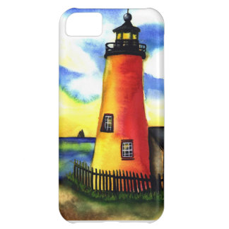 light house watercolor case for iPhone 5C