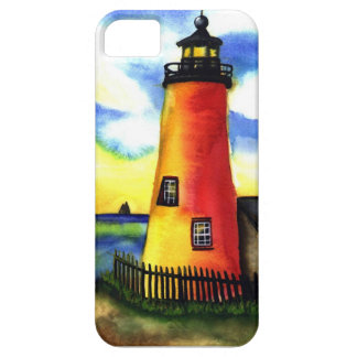 light house watercolor iPhone 5 case