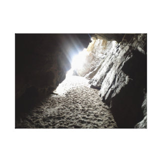 Light in Maghera Caves Ireland Canvas Print