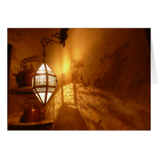 Light in Moroccan Kitchen Note Card