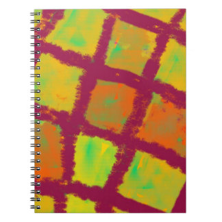 Light in square compartments notebook