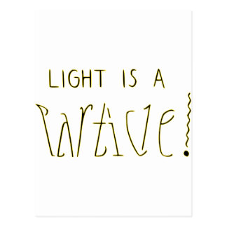 Light is a Wave Particle Ambigram Postcard