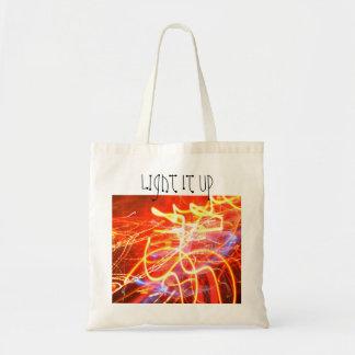 Light It Up budget tote bag