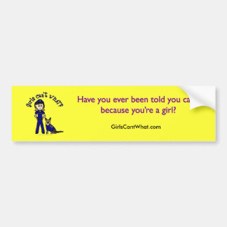 Light K9 Police Girl Bumper Sticker