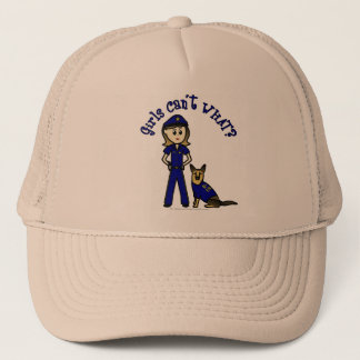 Light K9 Police Girl Trucker Hat