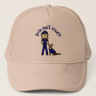 Light K9 Police Girl Trucker Hat