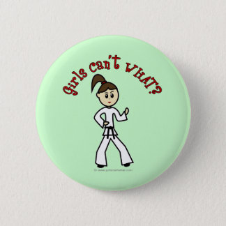 Light Karate Girl 6 Cm Round Badge
