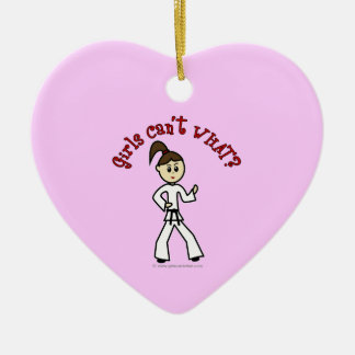Light Karate Girl Christmas Ornament