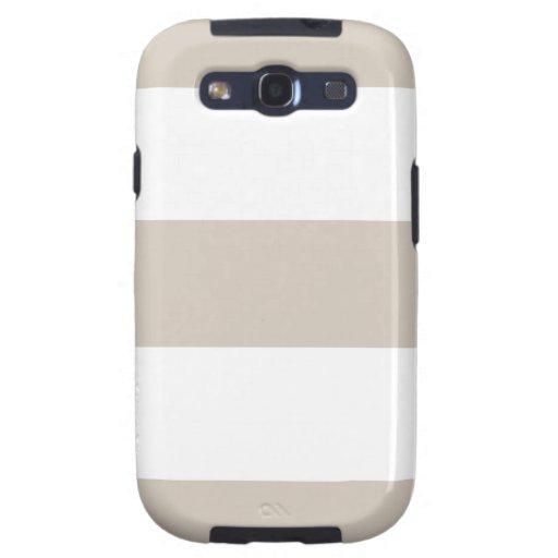 Light Khaki Beige & White Samsung Galaxy Case Galaxy SIII Covers