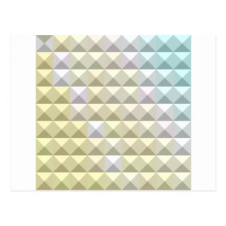 Light Khaki Yellow Abstract Low Polygon Background Postcard