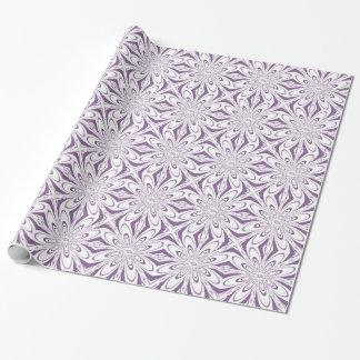 Light Lavender Art Flower Gift Wrapping Paper