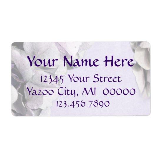 Light Lavender Hydrangea Large Address Labels