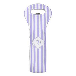 Light Lavender Stripe Monogram Wine Bag