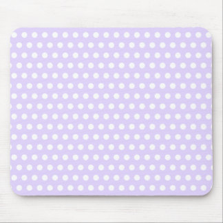 Light Lavender with White Polka Dots Mouse Mat