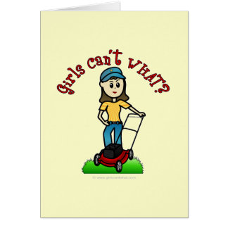 Light Lawn Care Girl Card