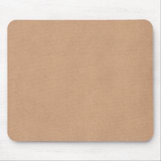 Light Leather Brown Vintage Parchment Paper Mouse Mat